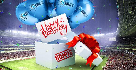 Birthday Bonus 1xBet